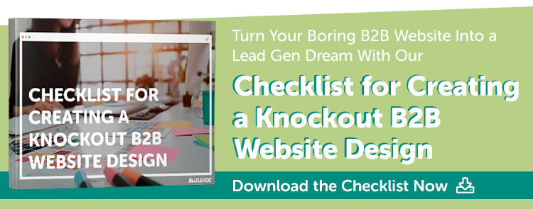 Checklist for an awesome B2B Web Design