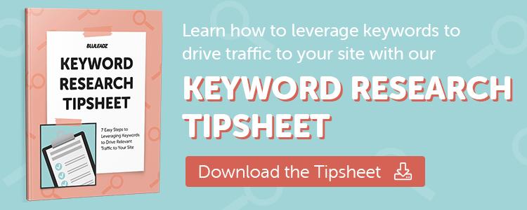 Keyword Research Tip Sheet
