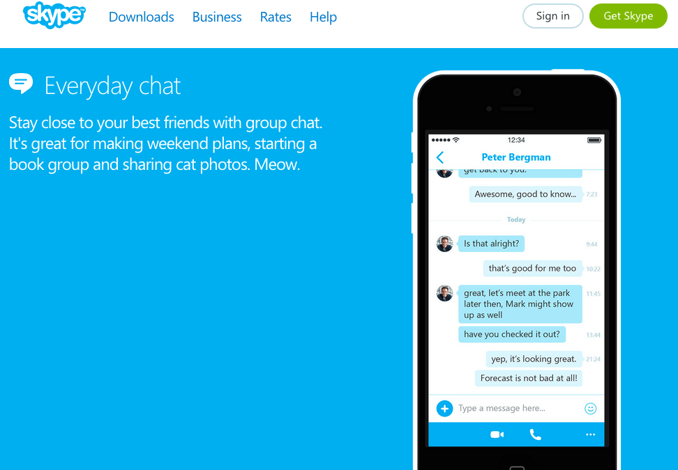 Blue makes Skype look innovative