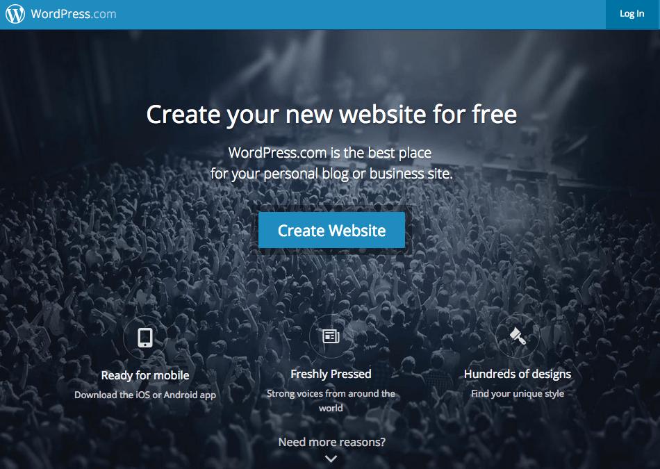 WordPress uses blue to establish trust